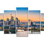 Wandbilder Xxl Stadt Frankfurt Leinwand Bilder Skyline Wohnzimmer Anbauwand Dekoration Pendelleuchte Hängeleuchte Tisch Deko Schrankwand Gardinen Für Wohnzimmer Wohnzimmer Wandbilder