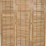 Garten Paravent Bambus Bett Wohnzimmer Paravent Bambus