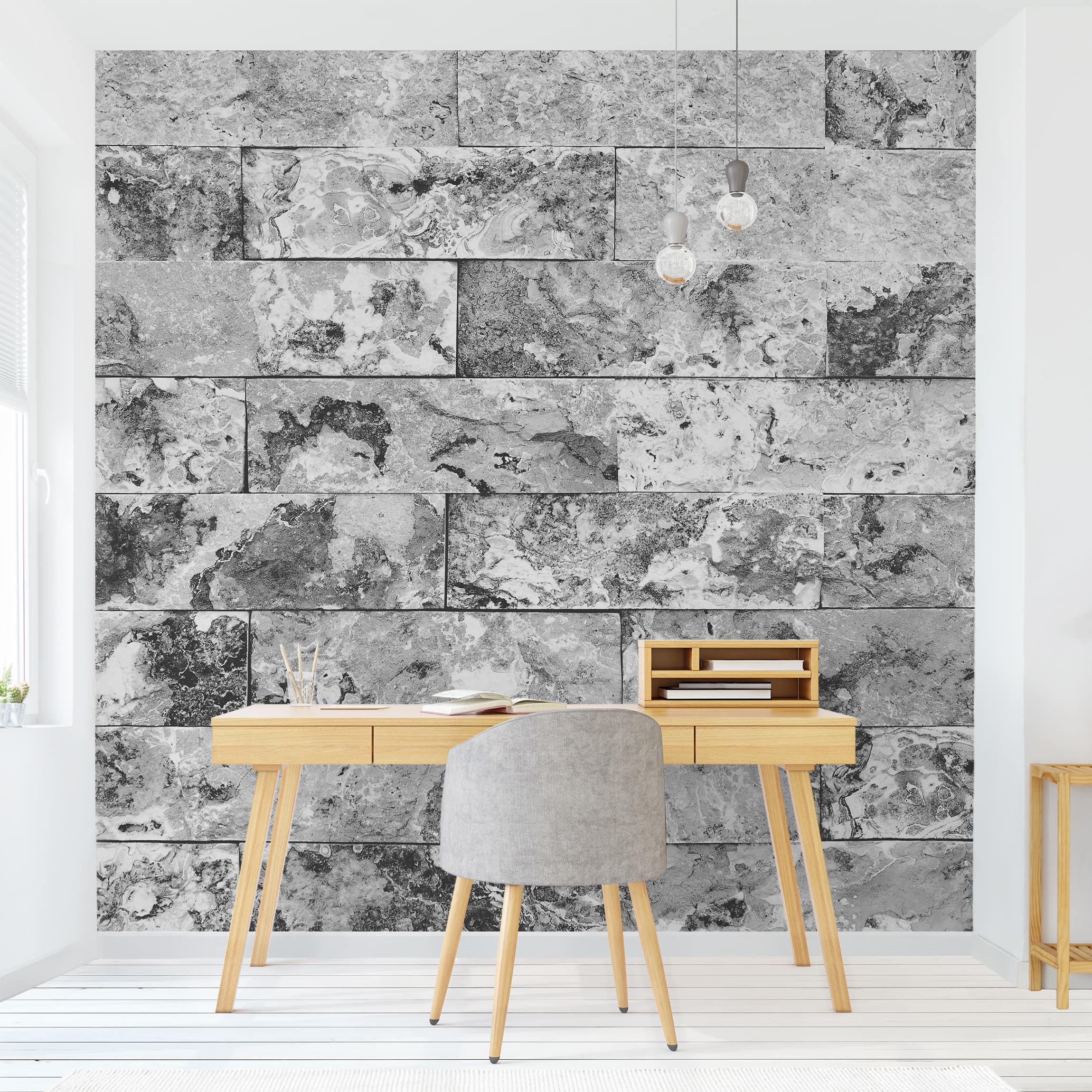 Full Size of Fototapete Grau Tapete Selbstklebend Steinwand Naturmarmor Quadrat Fototapeten Wohnzimmer Schlafzimmer Küche Hochglanz Graues Bett Regal Xxl Sofa 3er 3 Sitzer Wohnzimmer Fototapete Grau