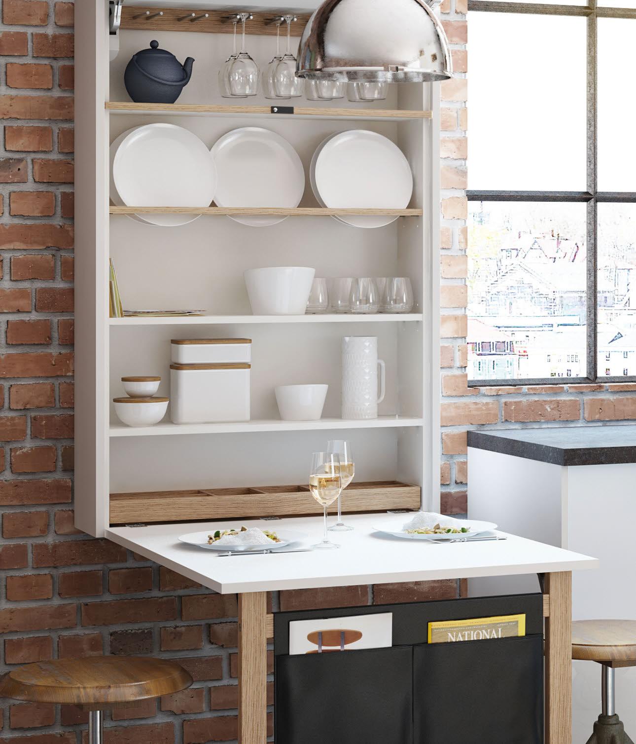 Full Size of Küche Klapptisch Ewe Raumwunder Komfortlsung Müllsystem Rosa Salamander Waschbecken Deckenlampe Winkel Büroküche Sockelblende Eckbank Mischbatterie Wohnzimmer Küche Klapptisch