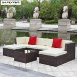 Couch Terrasse Wohnzimmer Couch Terrasse Ikayaa Uns Lager Garten Sofa Set Ottomane Ecke