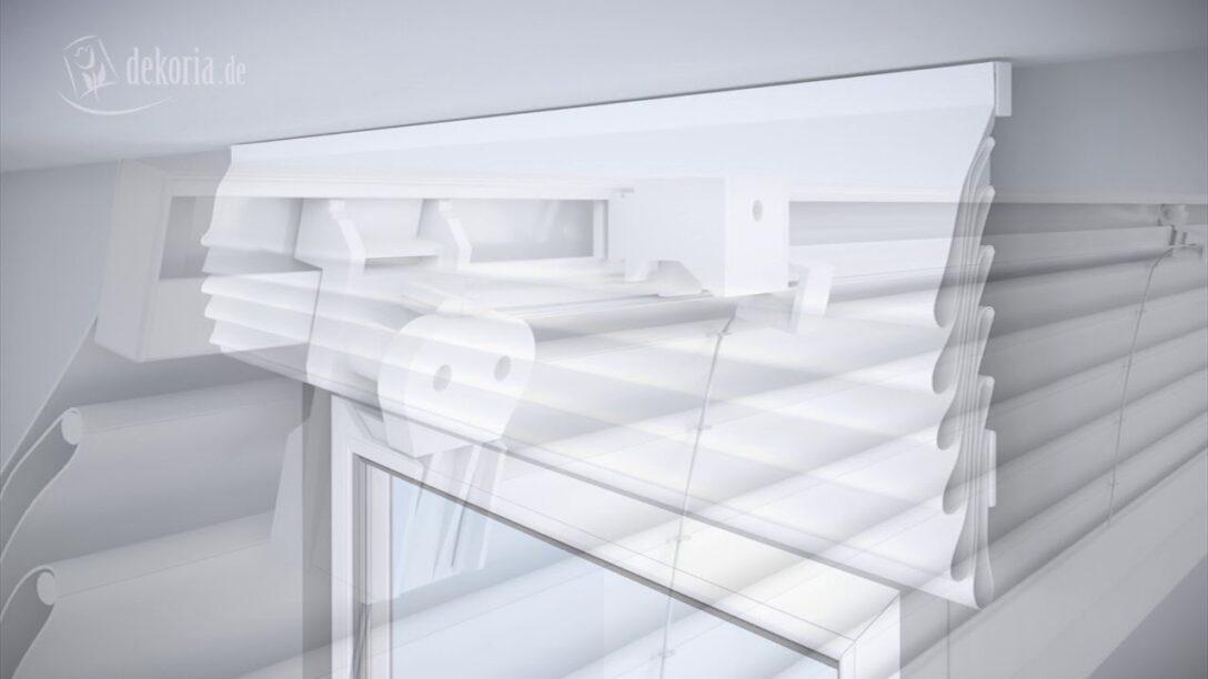 Large Size of Küchen Raffrollo Montage Des Raffrollos Mit Alu Schiene Und Schnurzug Youtube Küche Regal Wohnzimmer Küchen Raffrollo