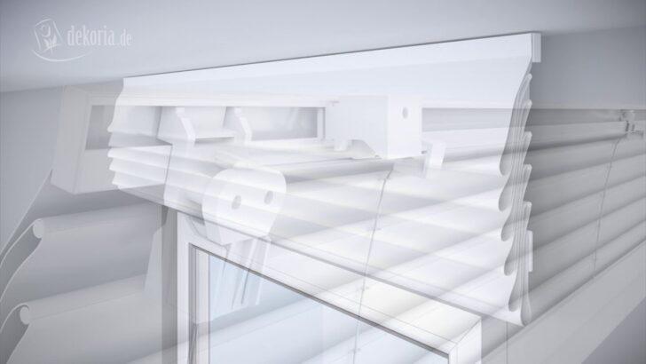 Medium Size of Küchen Raffrollo Montage Des Raffrollos Mit Alu Schiene Und Schnurzug Youtube Küche Regal Wohnzimmer Küchen Raffrollo