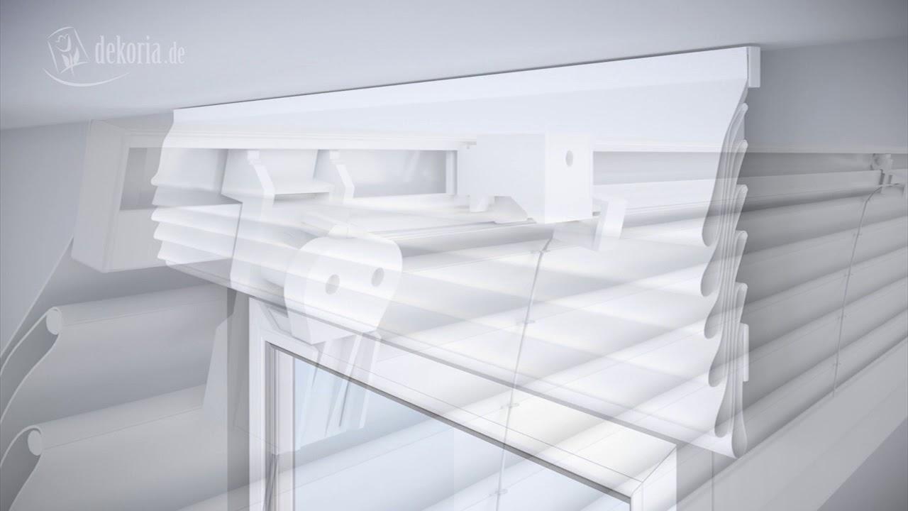 Full Size of Küchen Raffrollo Montage Des Raffrollos Mit Alu Schiene Und Schnurzug Youtube Küche Regal Wohnzimmer Küchen Raffrollo