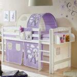 Mädchenbetten Wohnzimmer Mädchenbetten Mdchenbett Andro In Lila Und Wei Halbhoch Pharao24de