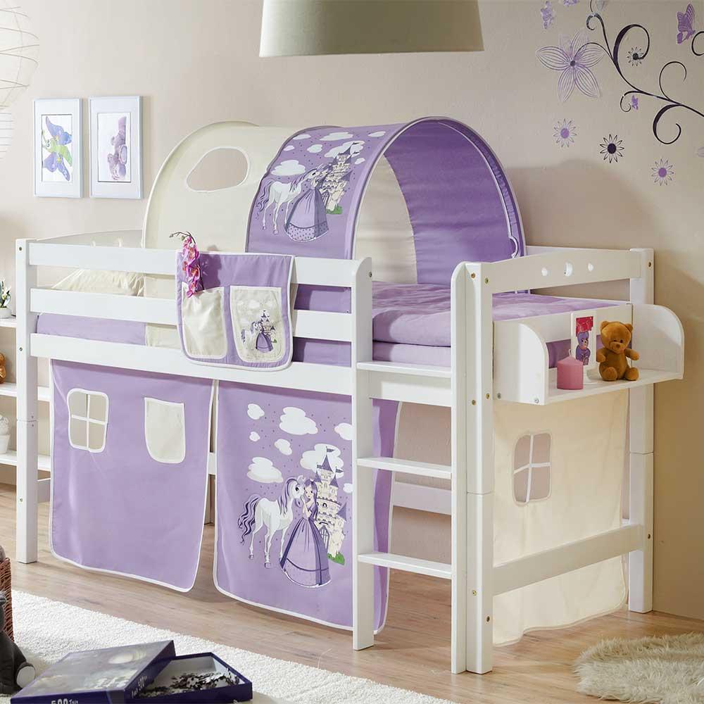 Full Size of Mädchenbetten Mdchenbett Andro In Lila Und Wei Halbhoch Pharao24de Wohnzimmer Mädchenbetten
