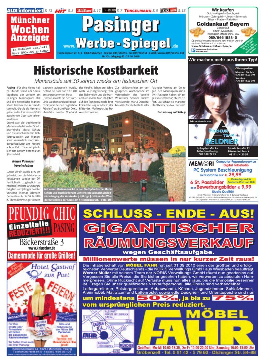 Large Size of Ausstellungsküchen Abverkauf Höffner Kw 43 2010 By Wochenanzeiger Medien Gmbh Inselküche Big Sofa Bad Wohnzimmer Ausstellungsküchen Abverkauf Höffner