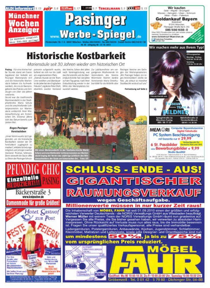 Medium Size of Ausstellungsküchen Abverkauf Höffner Kw 43 2010 By Wochenanzeiger Medien Gmbh Inselküche Big Sofa Bad Wohnzimmer Ausstellungsküchen Abverkauf Höffner