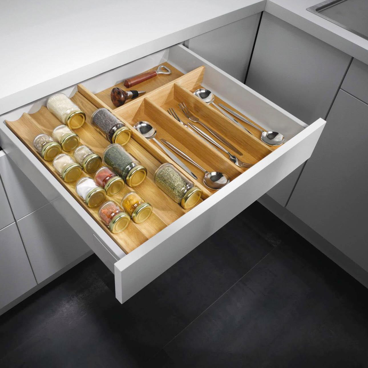 Full Size of Gewürze Schubladeneinsatz Besteckeinstze Zubehr Und Ausstattungsdetails Ewe Küche Wohnzimmer Gewürze Schubladeneinsatz