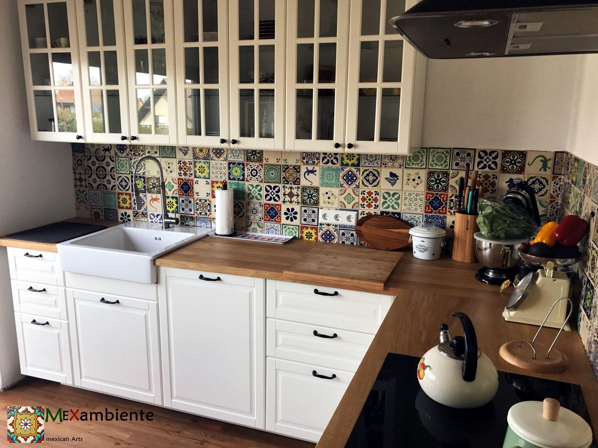 Full Size of Küchen Fliesenspiegel Sehr Schne Mexikanische Fliesen Fr Kche Küche Regal Selber Machen Glas Wohnzimmer Küchen Fliesenspiegel