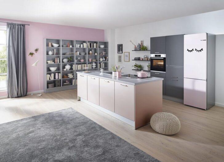 Medium Size of Wandfarbe Kche Rosa Spritzschutz Hochglanz Ikea Tapete Küche Wohnzimmer Wandfarbe Rosa
