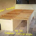 Ausziehbett Camper Vw T4 Umbau Zum Van 14 Ausziehbares Bett Selber Bauen Mit Wohnzimmer Ausziehbett Camper