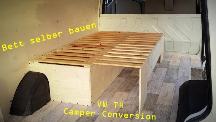 Medium Size of Ausziehbett Camper Vw T4 Umbau Zum Van 14 Ausziehbares Bett Selber Bauen Mit Wohnzimmer Ausziehbett Camper