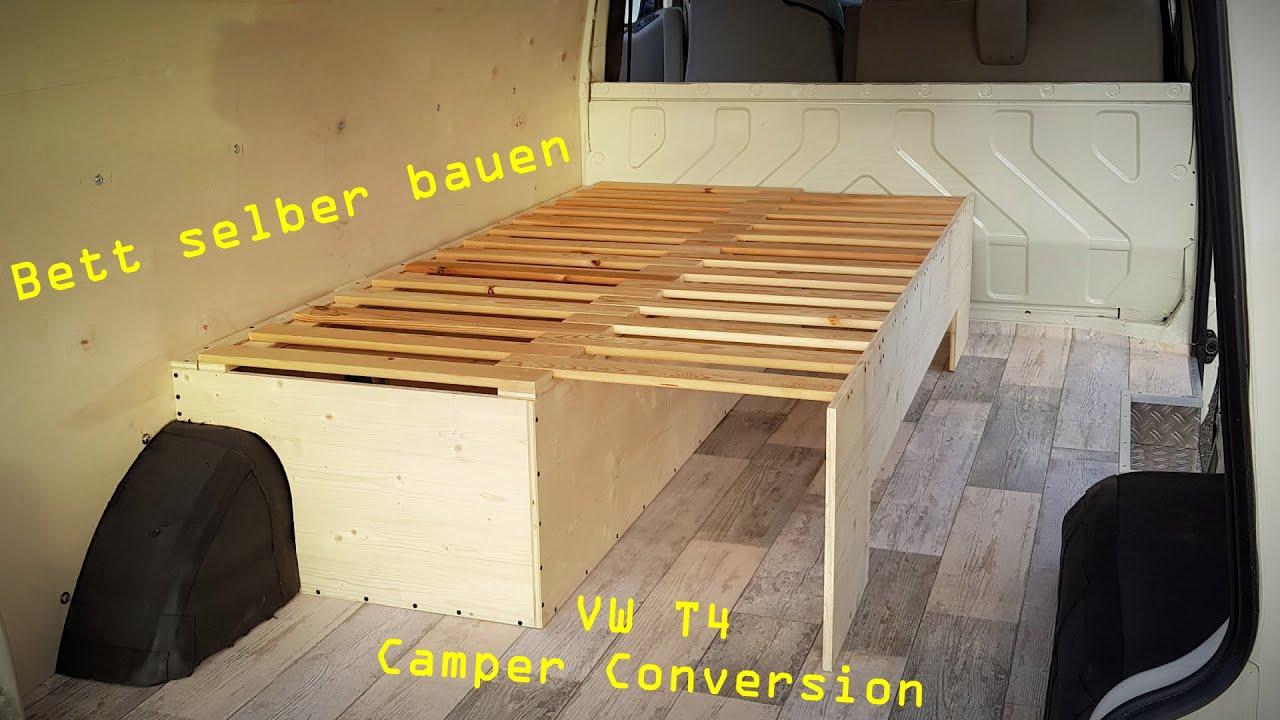 Full Size of Ausziehbett Camper Vw T4 Umbau Zum Van 14 Ausziehbares Bett Selber Bauen Mit Wohnzimmer Ausziehbett Camper