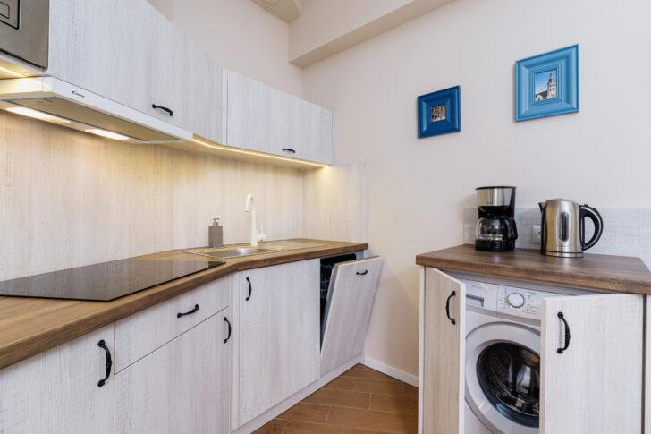 Medium Size of Küchenzeile Mit Waschmaschine Wohnung In Krakau Starowilna 54 7a Schlafzimmer Komplett Lattenrost Und Matratze Bett Stauraum 160x200 Einbauküche Wohnzimmer Küchenzeile Mit Waschmaschine