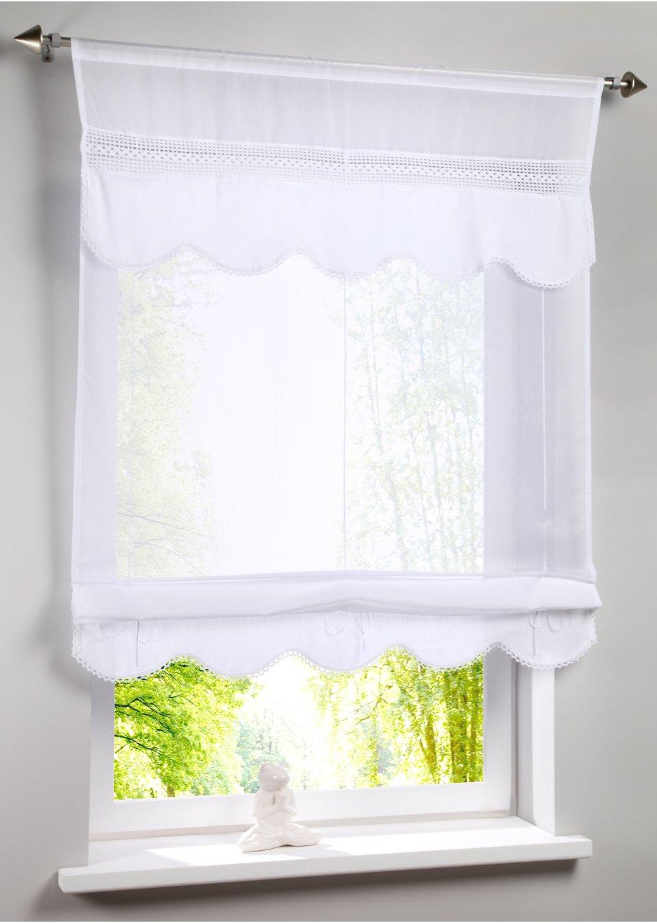 Full Size of Schne Fensterdekoration Mit Hkeldetails Im Landhausstil Wei Treteimer Küche Billig Kaufen Eckunterschrank Keramik Waschbecken Bad Klapptisch Betten Laminat Wohnzimmer Raffrollo Küche Landhausstil