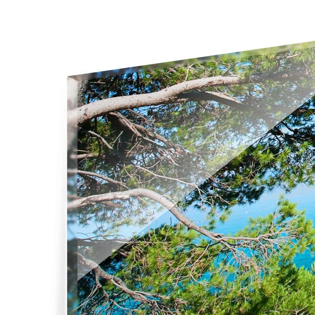 Large Size of Glasbild 120x50 Hidden Paradise Panorama Quer Glasbilder Bad Küche Wohnzimmer Glasbild 120x50