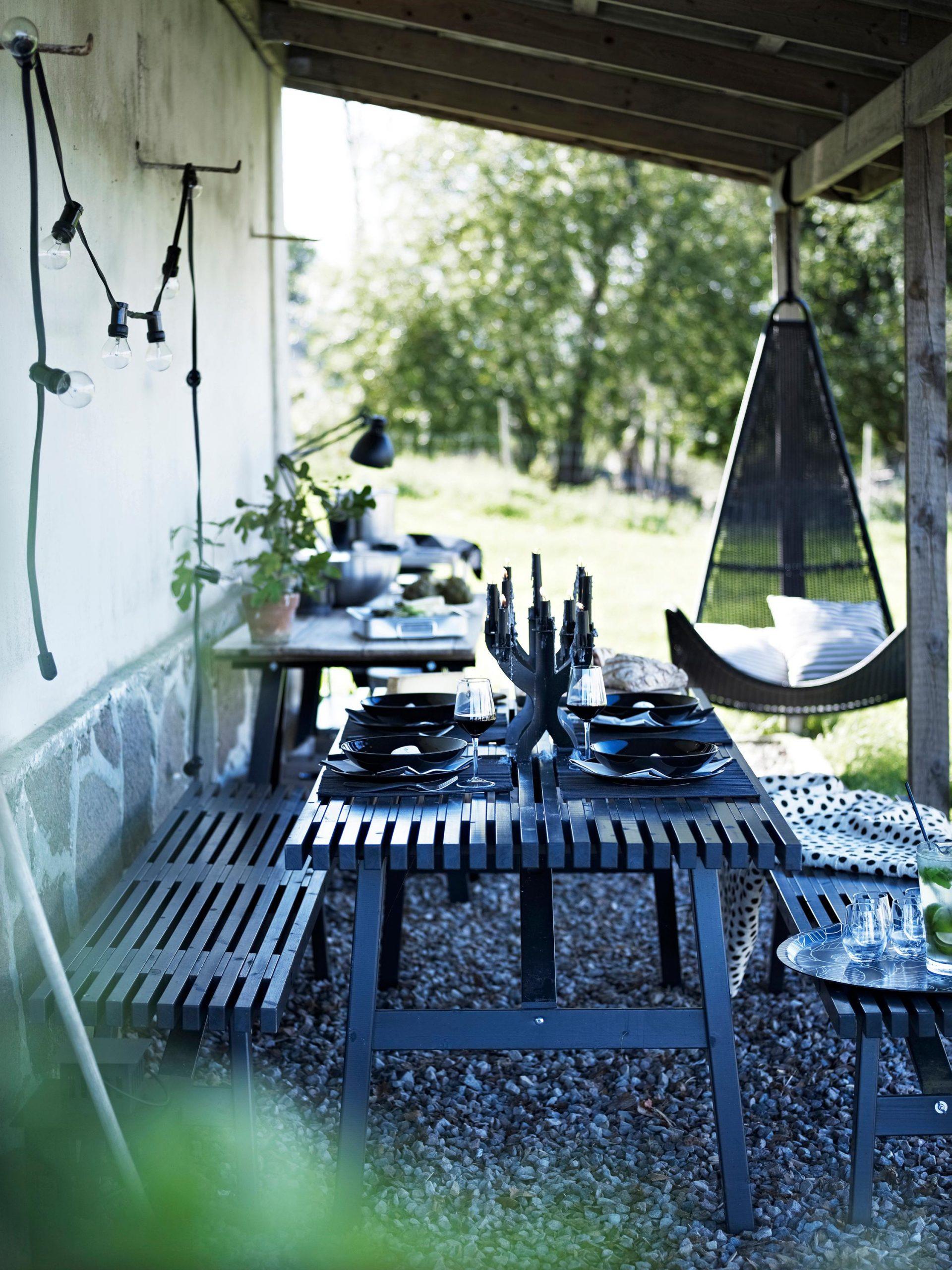 Full Size of Gartentisch Ikea Garten Mit Gemtlicher Sitzecke In Schwarz Terrasse Miniküche Sofa Schlaffunktion Küche Kosten Betten Bei Kaufen Modulküche 160x200 Wohnzimmer Gartentisch Ikea