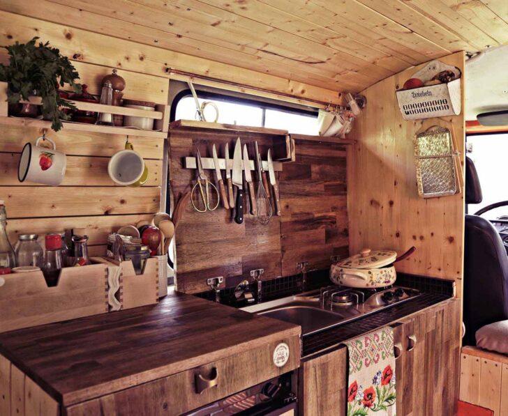 Medium Size of Wohnmobil Ausbau 31 Besten Camper Ausbauten Küche Wandpaneel Glas Auf Raten Sideboard Fliesen Für Rosa Zusammenstellen Landküche Niederdruck Armatur Wohnzimmer Rustikale Küche Selber Bauen