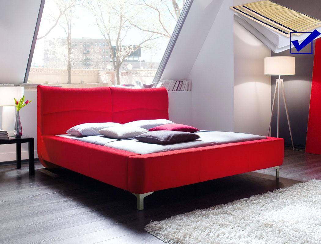 Full Size of Polsterbett Cloude Bett 160x200 Cm Rot Mit Lattenrost Matratze Schlafzimmer Set Weiß überlänge Eiche Sonoma Weißes 90x200 Gebrauchte Betten 2m X Antik Wohnzimmer Schlafzimmer Komplett 160x200 Bett