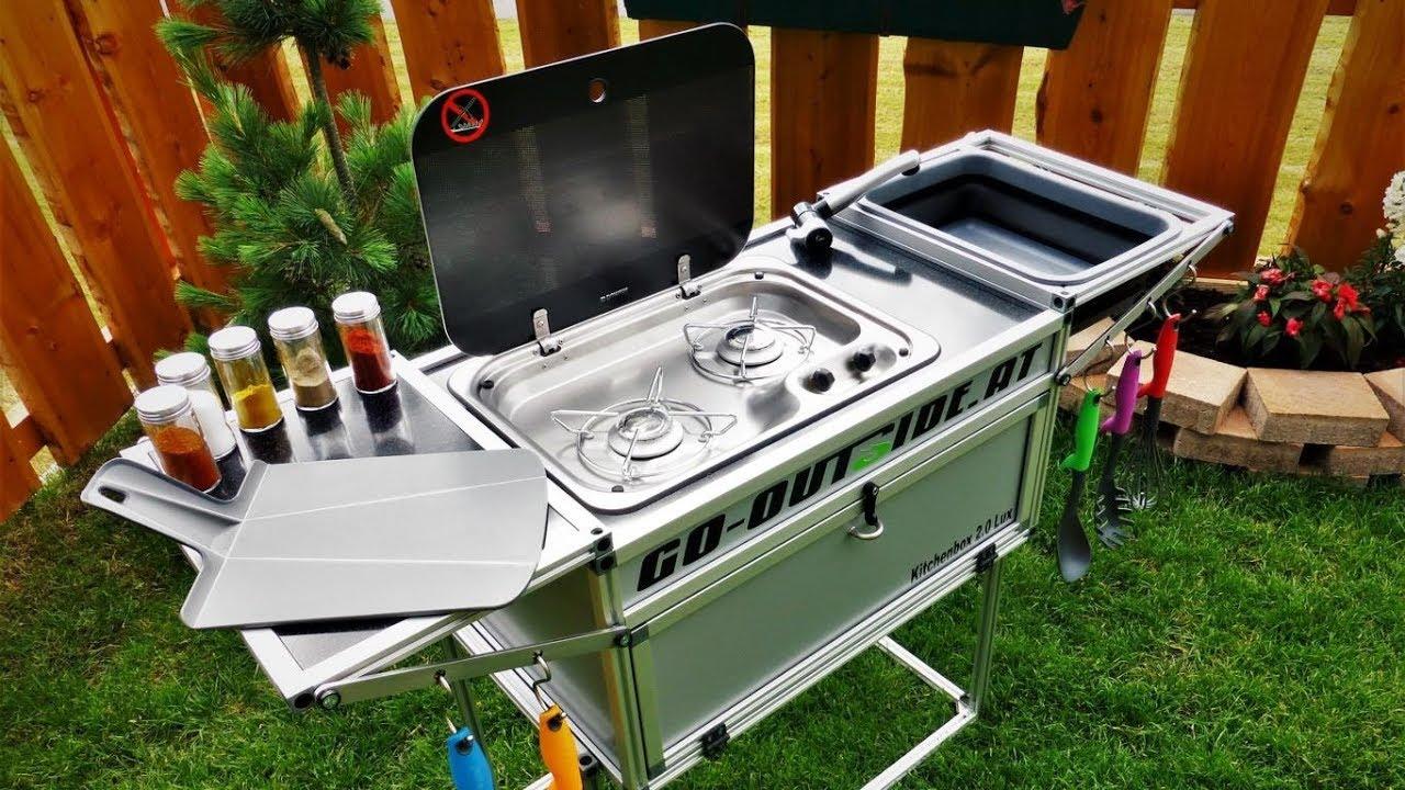 Full Size of Kitchenbo20 Lucamping Und Outdoor Kche Youtube Mobile Küche Wohnzimmer Mobile Outdoorküche