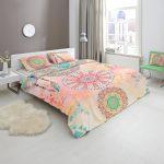 Bettwäsche 155x220 Satin Bettwsche Ornamente Rosa Bunt Cm Online Bei Sprüche Wohnzimmer Bettwäsche 155x220