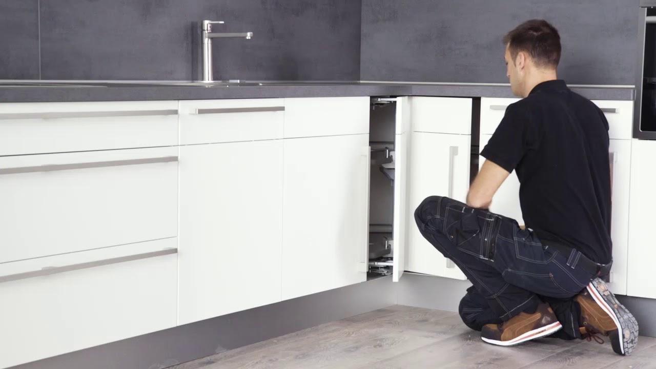 Full Size of Nobilia Kchen Karussellschrank Youtube Küche Bodenbelag L Mit E Geräten Wasserhähne Weiß Hochglanz Spülbecken Erweitern Fettabscheider Möbelgriffe Wohnzimmer Küche Eckschrank Rondell