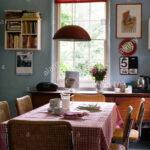 Blassen Blauen Mosaik Kche Mit Roten Akzentfarben Und Küche Bauen Pino Holzküche Selbst Zusammenstellen Schmales Regal Geräten Kaufen Günstig Eckbank Wohnzimmer Habitat Küche