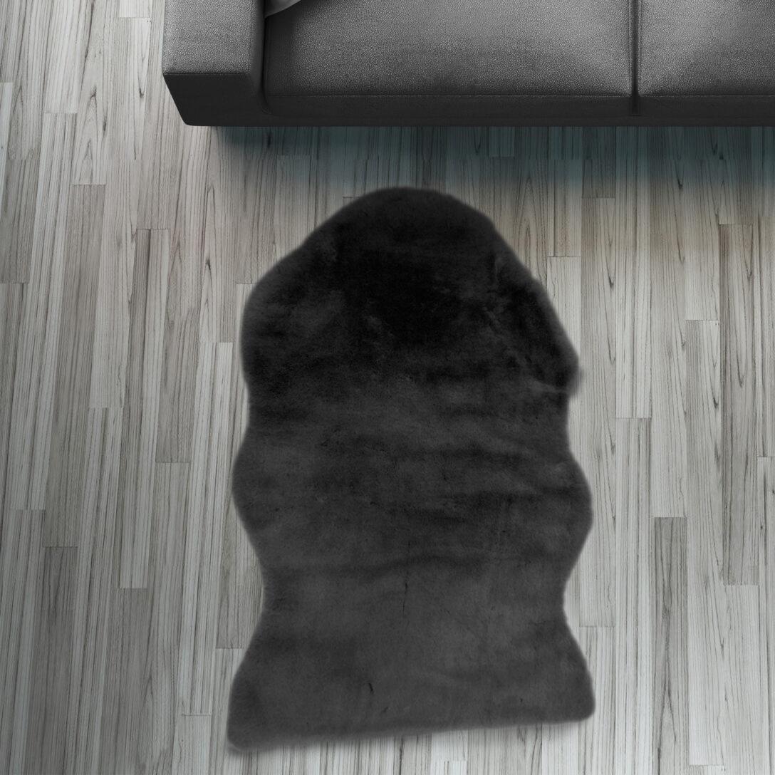 Large Size of Fell Lufer Teppich Schwarz 55 80 Cm Sofa Stuhl Matte Tier Wohnzimmer Teppiche Home Affair Affaire Big Bett Wohnzimmer Home 24 Teppiche