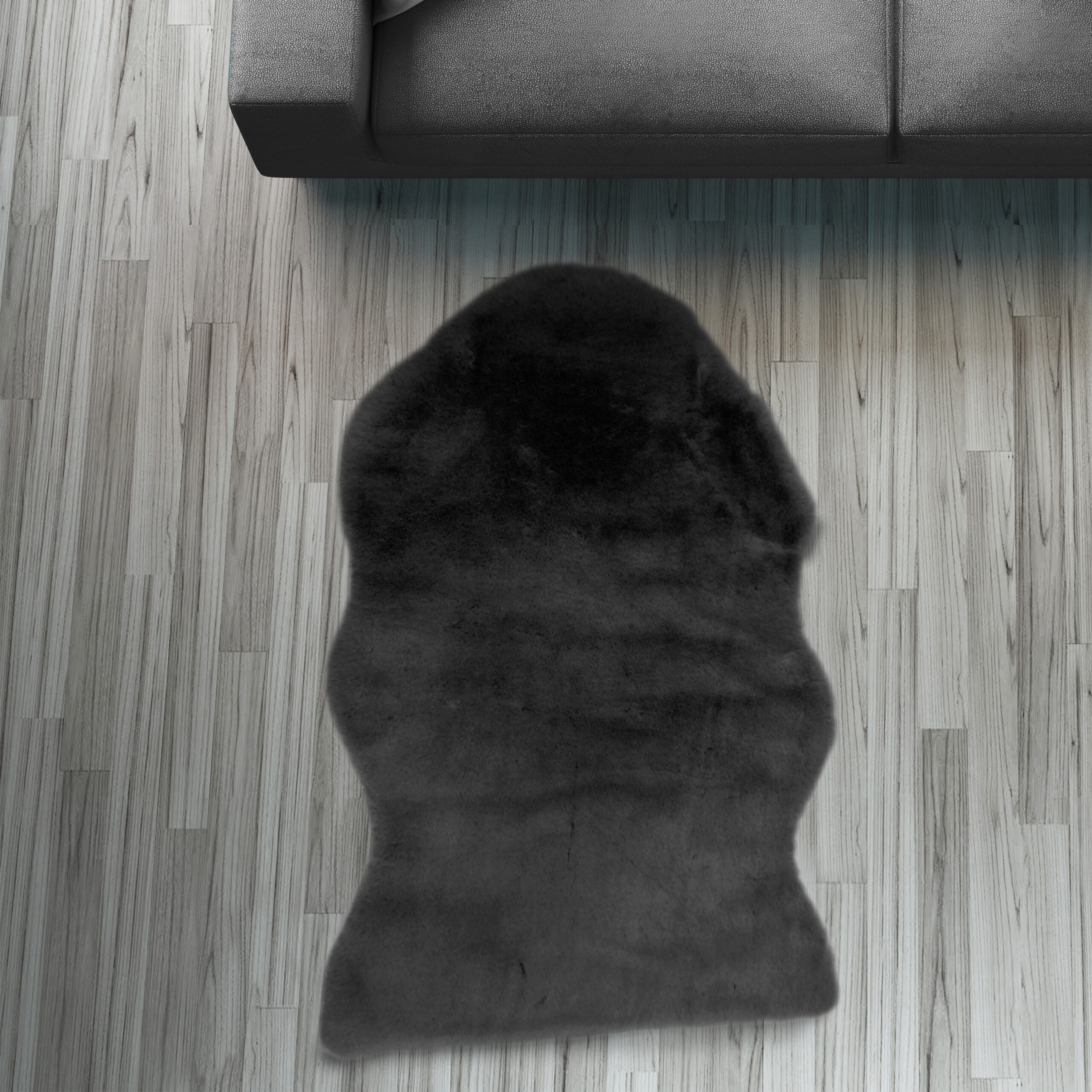 Full Size of Fell Lufer Teppich Schwarz 55 80 Cm Sofa Stuhl Matte Tier Wohnzimmer Teppiche Home Affair Affaire Big Bett Wohnzimmer Home 24 Teppiche