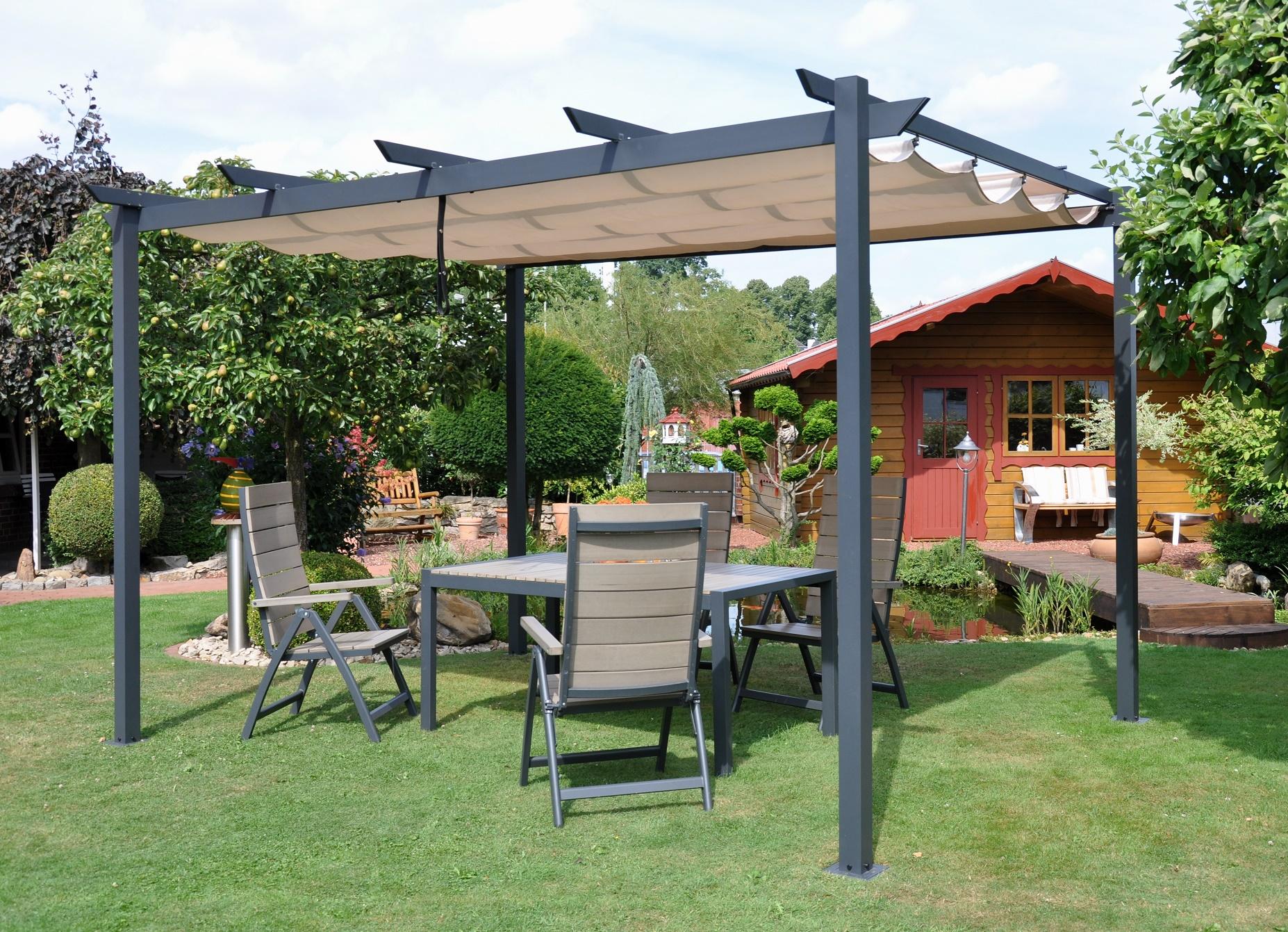 Full Size of Terrassen Pavillon Leco Pergola 3x4m Garten Terrasse Berdachung Windschutz Wohnzimmer Terrassen Pavillon