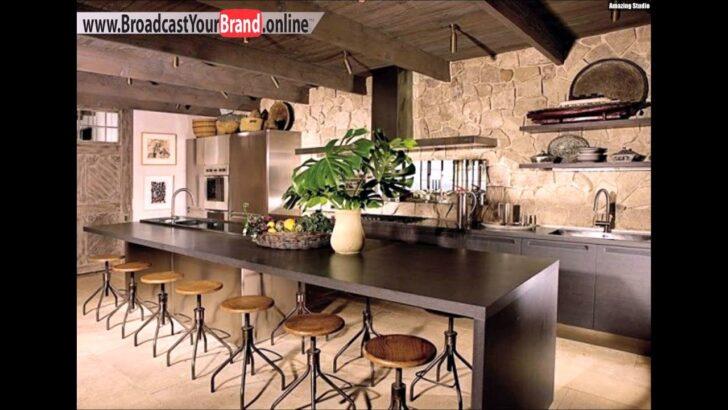 Medium Size of Rustikale Wandgestaltung Kche Einrichten Ideen Metallsthle Modulare Küche Singleküche Mit E Geräten Blende Unterschrank Led Deckenleuchte Hochschrank Wohnzimmer Küche Einrichten Ideen