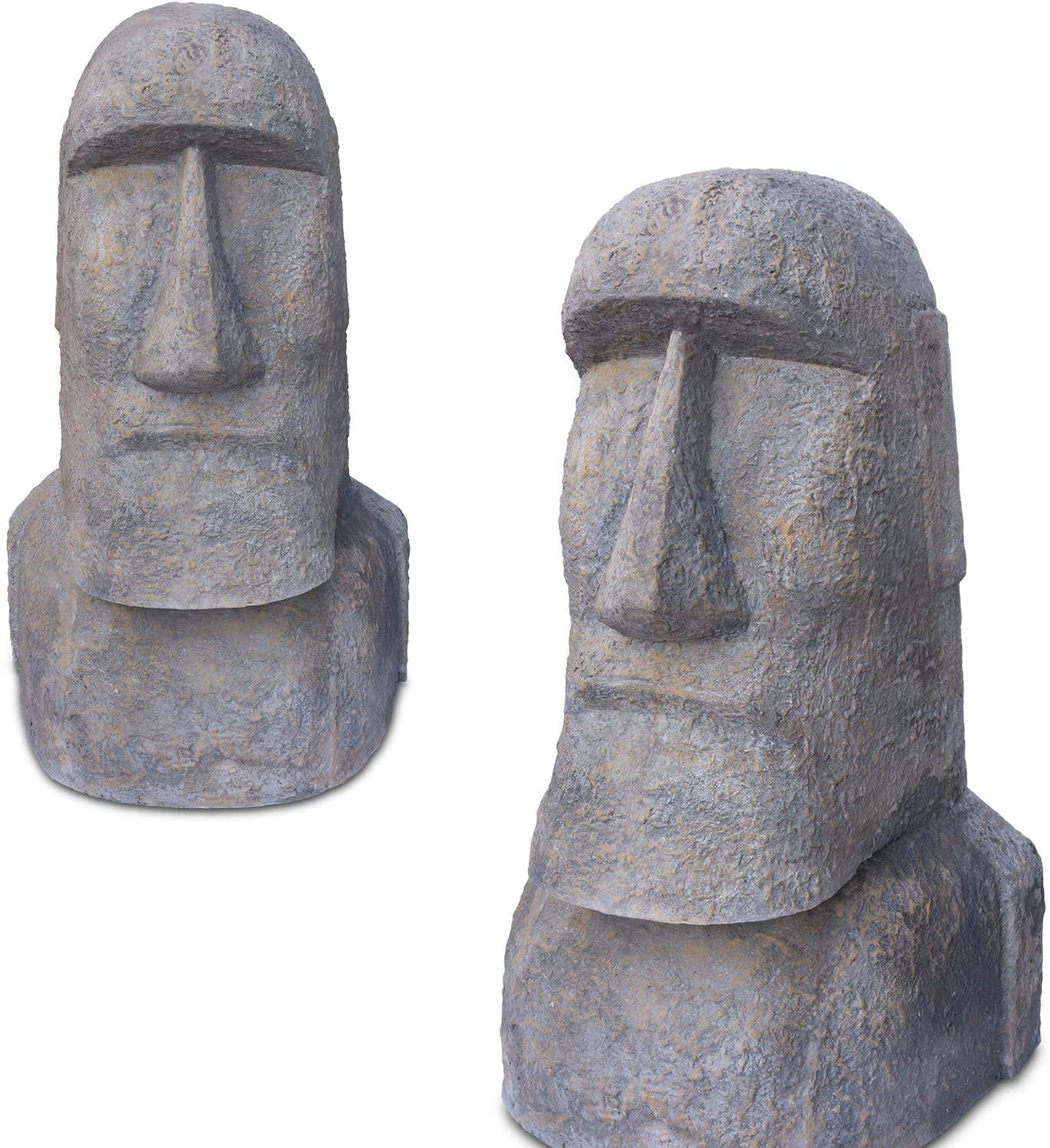 Full Size of Gartenskulpturen Stein Amazonde Fahome Moai Kopf Osterinsel Skulptur Ca 100 Cm Rapa Bad Staffelstein Hotel Steinteppich Hofgastein Gastein Alpina Therme Wohnzimmer Gartenskulpturen Stein