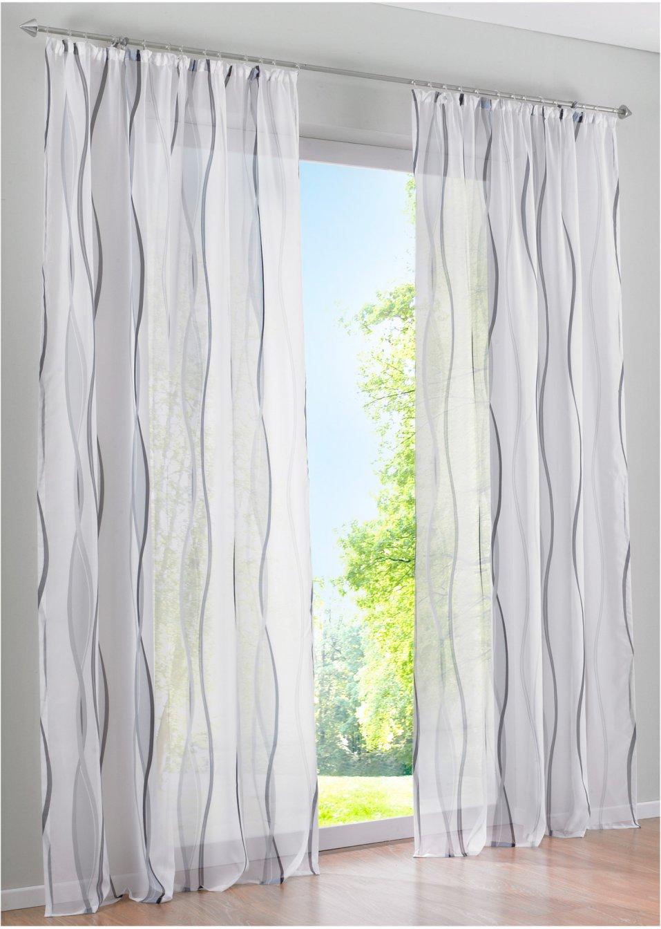 Full Size of Bon Prix Vorhänge Transparente Gardine In Zeitlosem Design Wei Silber Küche Wohnzimmer Bonprix Betten Schlafzimmer Wohnzimmer Bon Prix Vorhänge