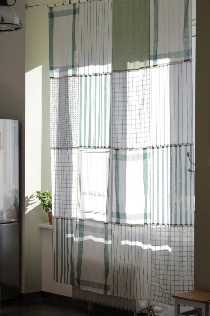 Medium Size of Do Diy Kchenvorhang Aus Geschirrtchern Wohnzimmer Küchenvorhang