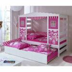 Pinkes Prinzessinnen Bett In 90x200 Cm Mit Ausziehbett Kaufen Weißes Weiß Lattenrost Und Matratze Mädchen Kiefer Betten Bettkasten Schubladen Wohnzimmer Kinderbett Mädchen 90x200