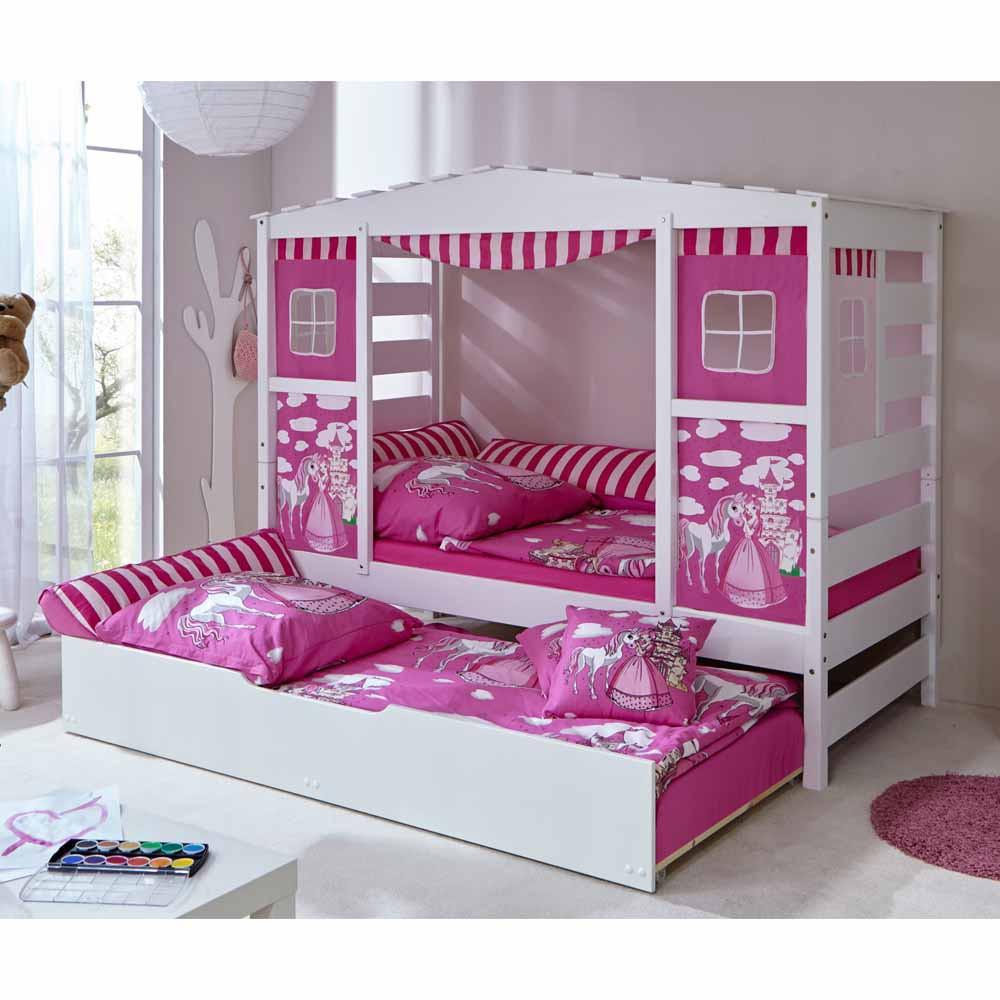 Full Size of Pinkes Prinzessinnen Bett In 90x200 Cm Mit Ausziehbett Kaufen Weißes Weiß Lattenrost Und Matratze Mädchen Kiefer Betten Bettkasten Schubladen Wohnzimmer Kinderbett Mädchen 90x200