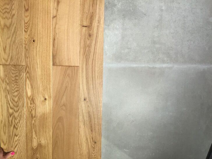 Medium Size of Eiche Parkett Mit Fliese In Betonoptik Fliesen Ausstellungsküche Tresen Küche Gebrauchte Kreidetafel Landhausküche Weiß Fliesenspiegel Vollholzküche Wohnzimmer Küche Betonoptik Holzboden