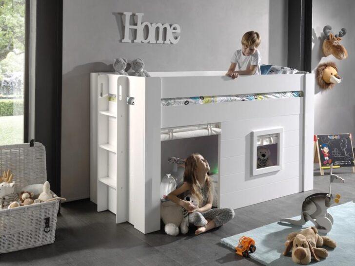 Medium Size of Halbhohes Hochbett Vipack Noah Bett 90 200 Cm Liegeflche Real Wohnzimmer Halbhohes Hochbett