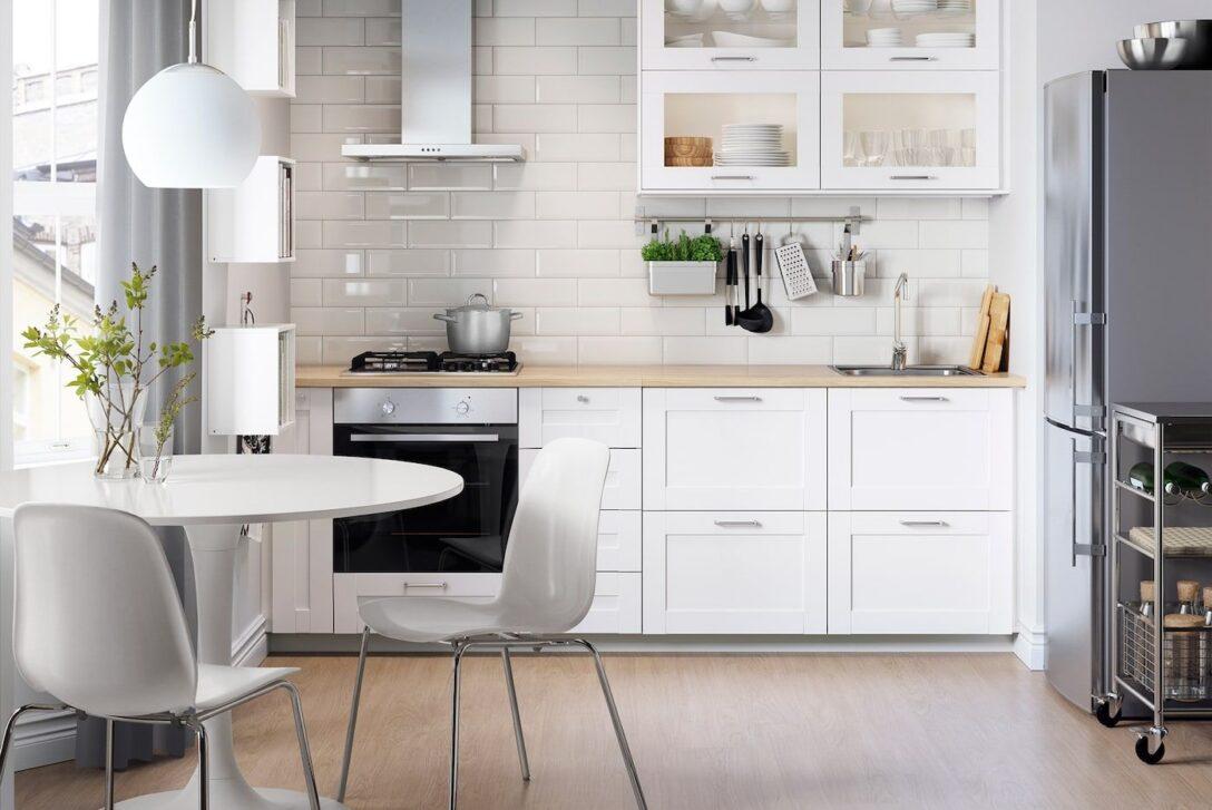 Large Size of Ikea Edelstahl Küche Kleine Kche Einrichten Platz Optimal Nutzen In 2020 Anrichte Landhaus Sitzecke Mit E Geräten Günstig Weiß Hochglanz Ebay U Form Wohnzimmer Ikea Edelstahl Küche