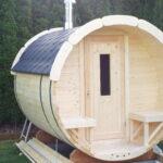 Gartensauna Bausatz Wohnzimmer Gartensauna Bausatz Fasssauna Mit Terrasse Sauna Ist Aus Verschiedem Holz