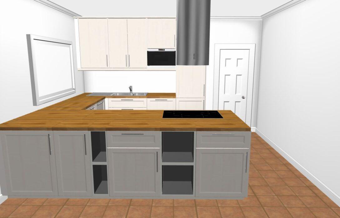 Large Size of Unsere Kche Von Saskia Küche Kochinsel L Mit Ikea Miniküche Betten 160x200 Kosten Modulküche Bei Sofa Schlaffunktion Kaufen Wohnzimmer Ikea Kochinsel