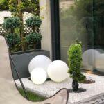 Solarkugeln Aldi Kugelleuchte Garten Leuchtkugel Led Deko Kunststoff Luna Relaxsessel Wohnzimmer Solarkugeln Aldi