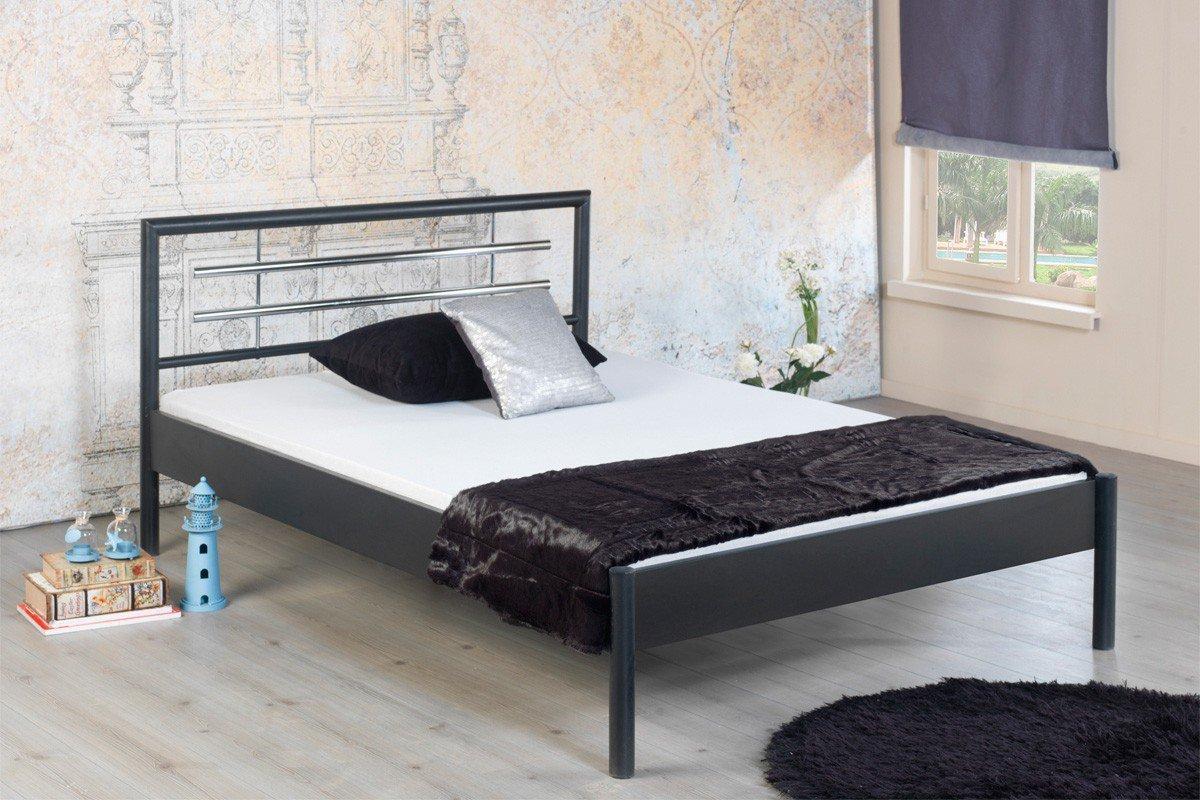 Full Size of Flaches Bett Bed Bomolly 1031 Grau Metall 90 200 Cm Mbel Letz Ihr Amazon Betten 180x200 90x200 Mit Lattenrost Und Matratze Pinolino überlänge Bettkasten Wohnzimmer Flaches Bett