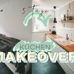 17 Kreative Vorher Nachher Kchenumbauten Holzküche Massivholzküche Vollholzküche Wohnzimmer Holzküche Auffrischen
