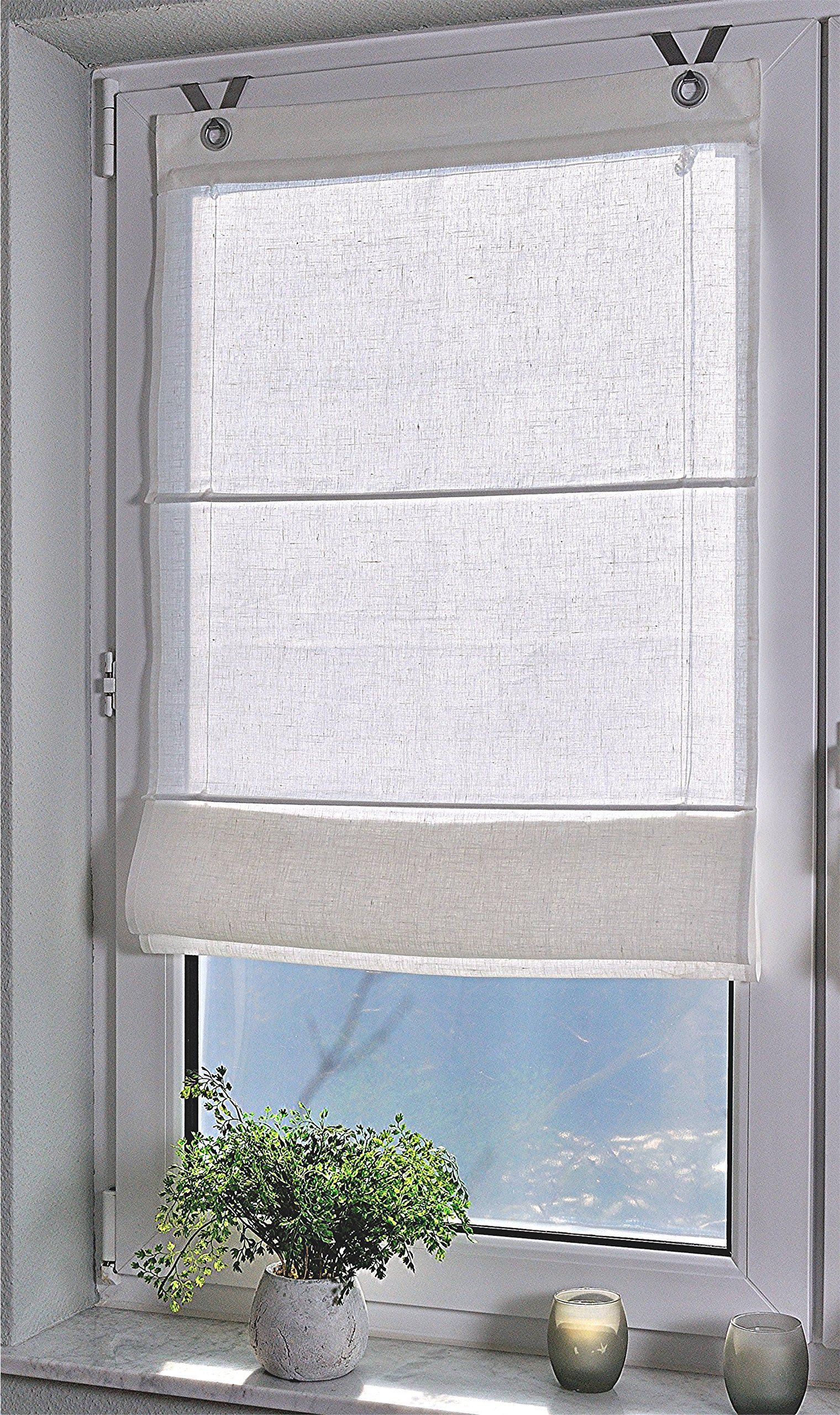 Full Size of Raffrollo Senrollo Metis Weiss 100 Leinen 45 140 Amazonde Küche Küchen Regal Wohnzimmer Küchen Raffrollo