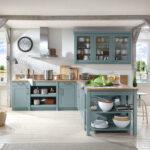 Küche Blau Wohnzimmer Küche Blau Wert Kche Carolin Mit Siemens Elektrogerten Und Edelstahlsple Abfalleimer Eckschrank Unterschrank Einbau Mülleimer Sprüche Für Die