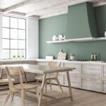 Wandfarben Für Küche Grne Kchen Kchendesignmagazin Lassen Sie Sich Inspirieren Sideboard Mit Arbeitsplatte Tapete Modern Tapeten Die Treteimer Glaswand Wohnzimmer Wandfarben Für Küche