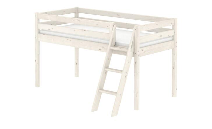 Medium Size of Flexa Halbhohes Bett Kiefer Wei Wohnzimmer Halbhohes Hochbett