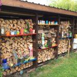 Einen Stabilen Brennholzunterstand Brennholzschuppen Gut Und Boxspring Bett Selber Bauen Pool Im Garten Bodengleiche Dusche Nachträglich Einbauen Küche Neue Wohnzimmer Holzlege Bauen